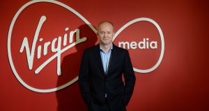 Tony Hanway, chief executive of Virgin Media Ireland. 'We're seeing a massive growth in consumer and business activity across our network,' he says. Photograph: Dara Mac Dónaill