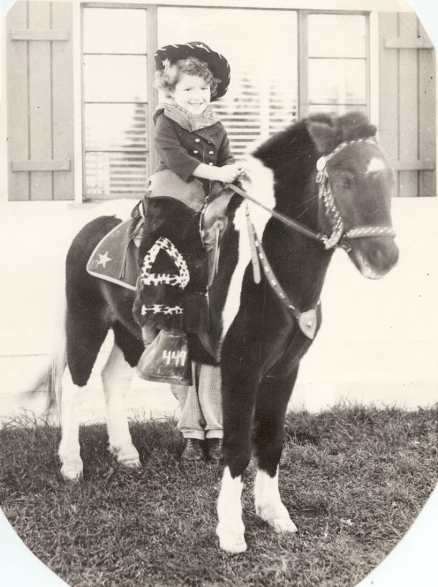 Helena Sheehan as a cowgirl at home in the US in the 1950s