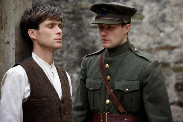 Cillian Murphy with Pádraic Delaney in Ken Loach's 2006 film The Wind That Shakes the Barley