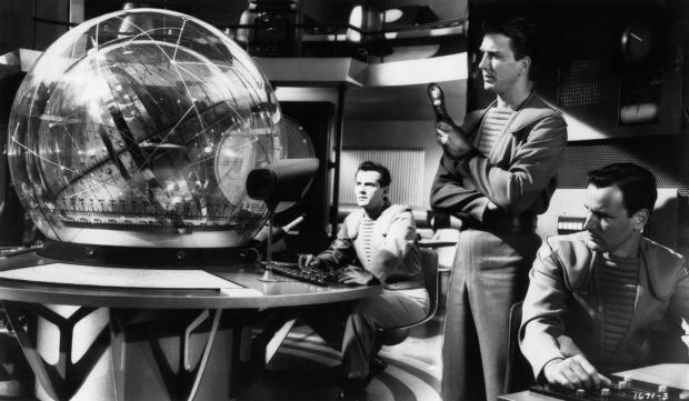 Forbidden Planet: Jack Kelly, Leslie Nielsen and Richard Anderson in the 1956 film. Photograph: MGM/Getty