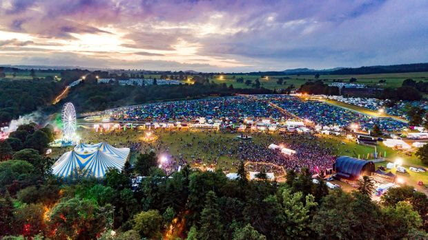 Sunset at All Together Now. Photograph: Aerial.ie