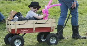 And baby came too: Mini festival goer at last year's Electric Picnic. Photograph: Dave Meehan