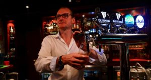 Hong Kong Irish: Noel Smyth, who with his partners runs three Delaney's pubs in the city. Photograph: Peter Goff