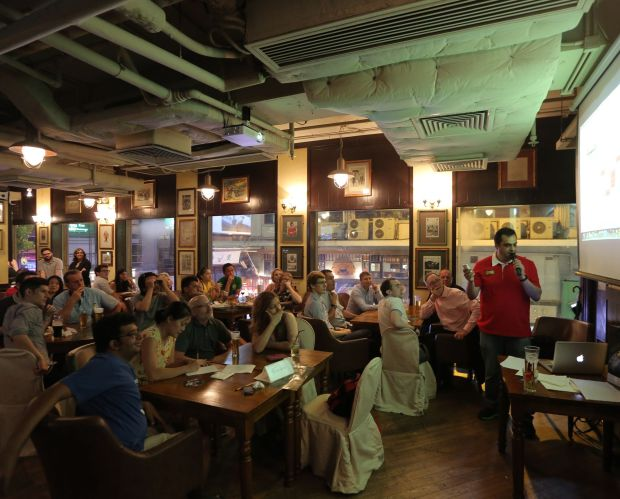 Quiz night at Delaney's. Photograph: Paul Yeung/South China Morning Post via Getty