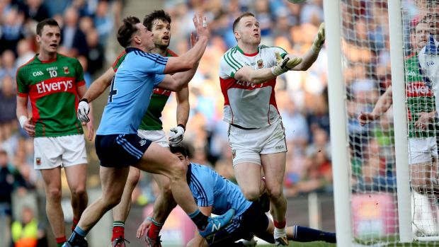 Dublin's Philip McMahon scores a goal in their 2015 semi-final victory over Mayo. Photograph: James Crombie/Inpho