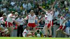 In 2003 Tyrone whipped themselves into a welter of energy and fury and blindly crowded whatever player in green and gold happened to have the football. Photograph: Morgan Treacy/Inpho