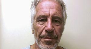 Epstein had been accused of sex trafficking. He is currently in jail after being arrested on July 6th. Photograph: New York State Division of Criminal Justice Services/Handout/File Photo via Reuters