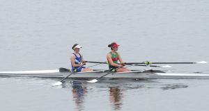 Ireland's lightweight double scull of Rhiannon O'Donoghue and Molly Curry. Photograph: Liam Gorman