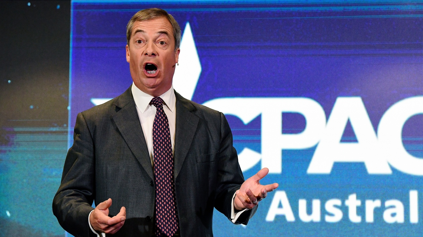 Nigel Farage ridicules British royal family in Australian speech