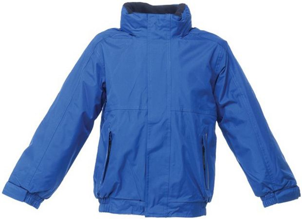 Royal blue kids' Dover jacket, €24 from Regatta.