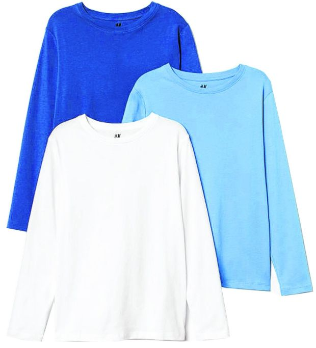 H&M: three-pack jersey tops €14.99