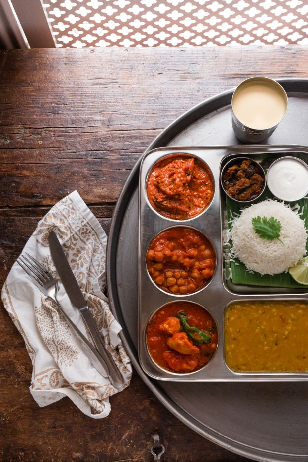 Tuesday thali meals at Kerala Kitchen. Photograph: Nathalie Marquez Courtney