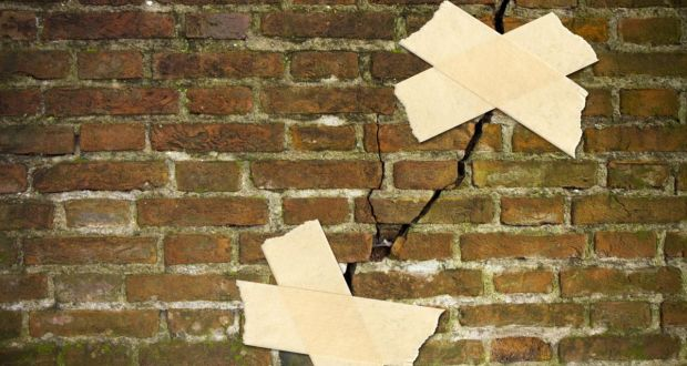 Wall cracking: ask a building surveyor to make an initial assessment of the damage. Photograph: iStock/Getty