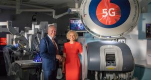 Prof Barry O'Reilly, director of  the Assert Centre and Anne O'Leary, chief executive of Vodafone Ireland