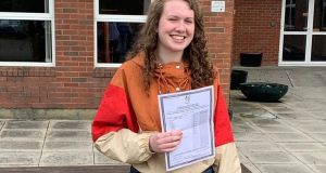 Ellen O'Carroll of the Presentation Girls' School in Kilkenny scored eight H1s in her exams. Photograph: Facebook