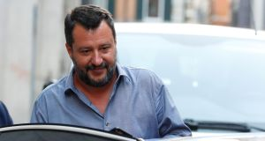 Italian deputy PM and leader of the League party Matteo Salvini: said the boats were not Rome's problem. Photograph: Remo Casilli/Reuters