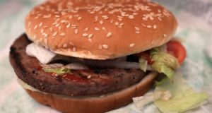 Fast-food chain Burger King has introduced the soy-based Impossible Whopper in US outlets. Photograph: Shannon Stapleton/Reuters