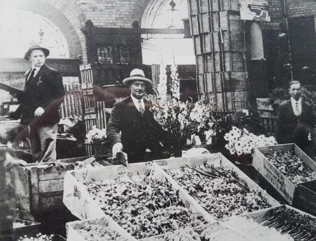 Joe Duffy's grandfather (left), who founded the family business