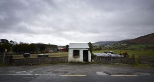 A former customs guard hut at the Border, near Newry. Photograph: Charles McQuillan/Getty Images