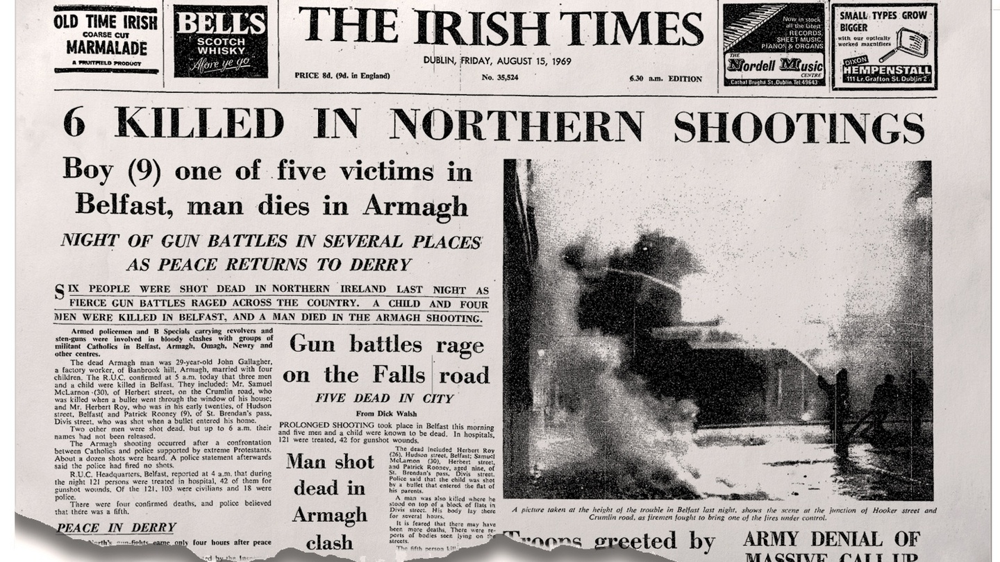 On this day 50 years ago: Six killed in North as British troops arrive