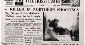 How The Irish Times reported the day's events the following morning.