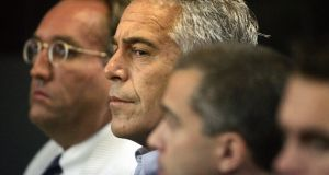 Jeffrey Epstein appears in court in West Palm Beach, Florida in July 2008. Epstein has died by apparent suicide in a New York prison while awaiting trial on sex-trafficking charges. File Photograph: Uma Sanghvi/AP/Palm Beach Post