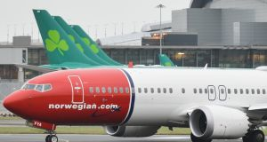 Norwegian Air said the route closures took into account the grounding of the Boeing 737 Max aircraft. Photograph: Artur Widak/NurPhoto via Getty