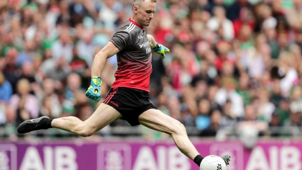 Mayo goalkeeper Robert Hennelly in their GAA All-Ireland Senior Football Championship semi-final against Dublin at Croke Park last Saturday. Photograph: Laszlo Geczo/Inpho