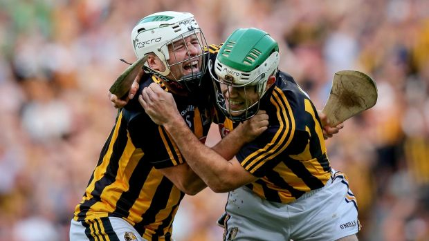 Kilkenny's Padraig Walsh and Paddy Deegan celebrate at the full time whistle after this year's semi-final. Photo: Oisin Keniry/Inpho