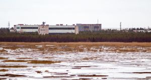 "A picture taken on November 9, 2011 shows buildings at a military base in the small town of Nyonoska in Arkhangelsk region. - Russia's nuclear agency chief on August 12th confirmed that five scientists killed last week were developing ""new weapons"" and vowed to continue testing despite the explosion. Photograph: AFP/Getty Images"