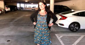 An Adversarial Fashion dress, modelled by its designer, Kate Rose. Photograph: Kate Rose