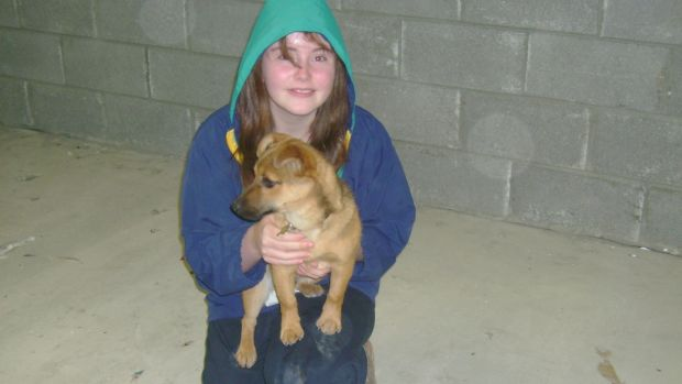 When Kay first moved to Ireland in 2007 with her dog.