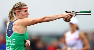 Natalya Coyle  competes in the European  Pentathlon Championships last week in Bath, England. Photograph: Michael Steele/Getty Images