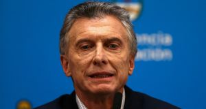 President Mauricio Macri: there are concerns that he may be in denial about his election chances. Photograph: Agustin Marcarian/File photo/Reuters