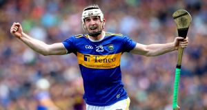 Séamus Kennedy celebrates at the final whistle after Tipperary's victory over Wexford in the All-Ireland semi-final at Croke Park. Photograph: Ryan Byrne/Inpho