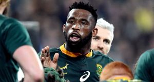 Siya Kolisi returns for the Springboks as he bids to prove his fitness ahead of the Rugby World Cup. Photograph: Ross Setford/Reuters