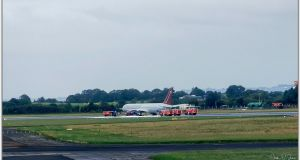The Omni Air International Boeing 767-300  at Shannon Airport. Photograph: Jack O'Shea