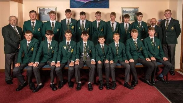 Ireland's victorious youths fly fishing team at Lake Menteith, Scotland.