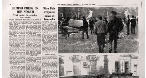 How The Irish Times reported the day's events the following morning