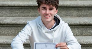 Fiachra O'Farrell, a student at Gonzaga College, who scored eight H1s in his Leaving Cert, and plans to study theoretical physics at third level. Photograph: Dave Meehan/The Irish Times
