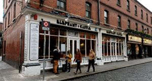 Elephant & Castle in Temple Bar: operated by Press Up Entertainment. Photograph: Cyril Byrne