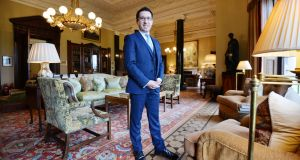 Damien Bastiat, who is bringing a touch of Gallic flaire to the luxury five-star Ballyfin resort in Co Laois. Photograph: Alan Betson / The Irish Times