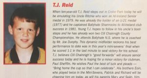This weekend marks 21 years since TJ Reid's first appearance in an All-Ireland programme.