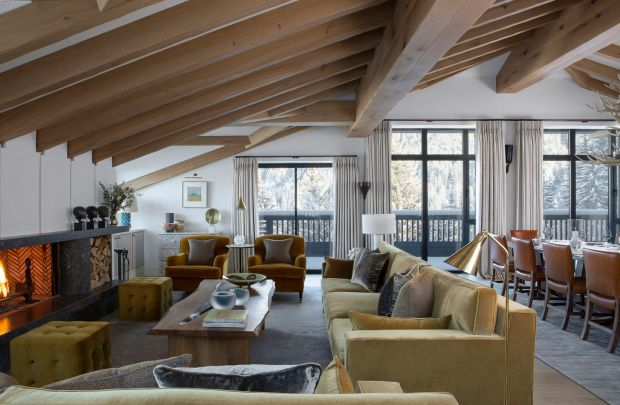 Inside a chalet in the French ski resort of Courchevel designed by Bryan O'Sullivan Studio