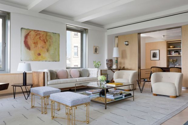 Inside the apartment on Fifth Avenue in New York designed by Bryan O'Sullivan Studio