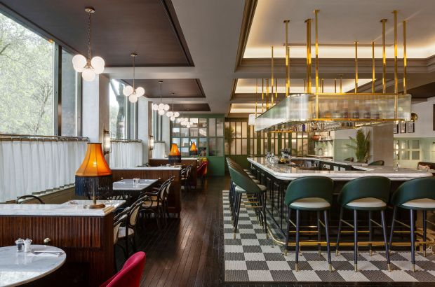 Inside the Green hotel in Dublin, designed by Bryan O'Sullivan Studio