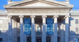 An Post has been given planning permission to hang two large banners outside the GPO.