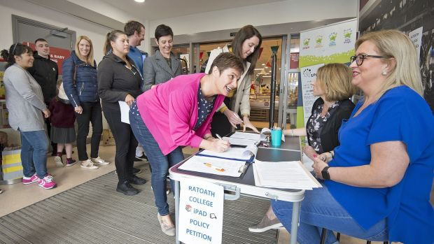 A petition to review Ratoath College's iPad-only policy organised by a concerned parents' group attracted hundreds of signatures. Photograph: Dave Meehan