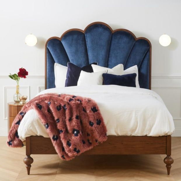 Anthropologie: its Soho Home Sofia queen bed