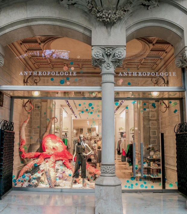 Anthropologie: the Barcelona team conjured up an octopus for their front window
